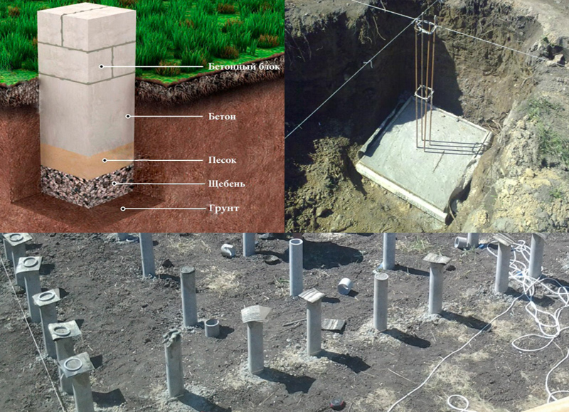 Как сделаем столбчаты фундамент