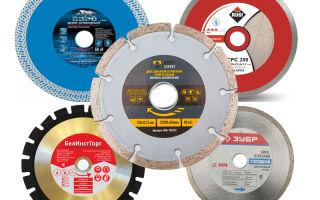 Алмазные диски для резки керамогранита