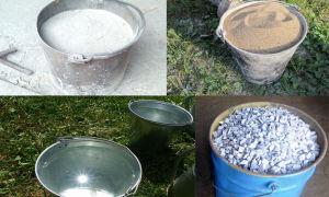 Пропорции бетона в ведрах для бетономешалки