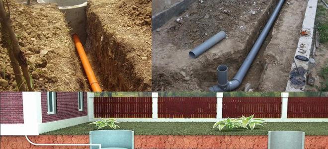 Расстояние до фундамента от канализации