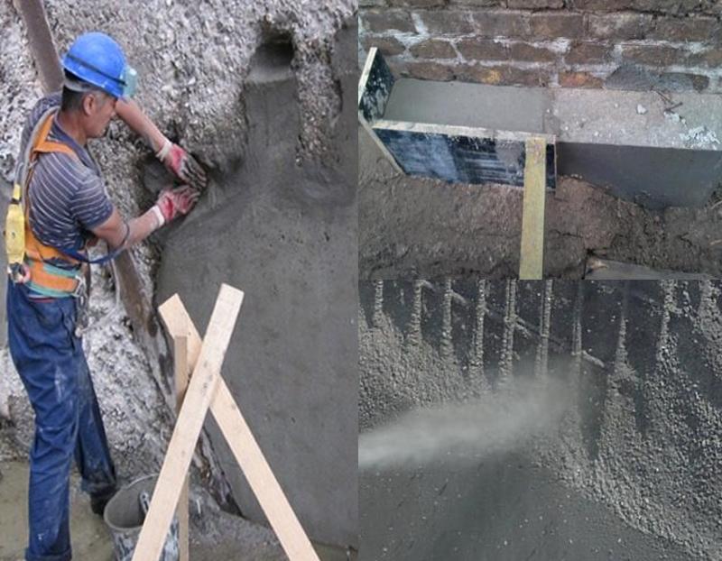 При усилении основания дома, можно использовать цемент, для этого не требуется специалист