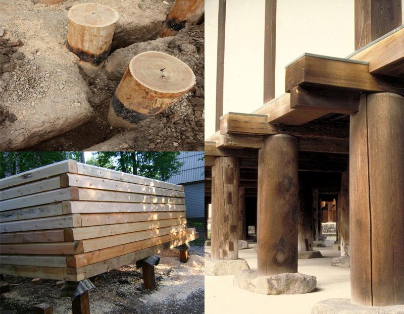 Столбчатое деревянное основание модно применять только для легких строений