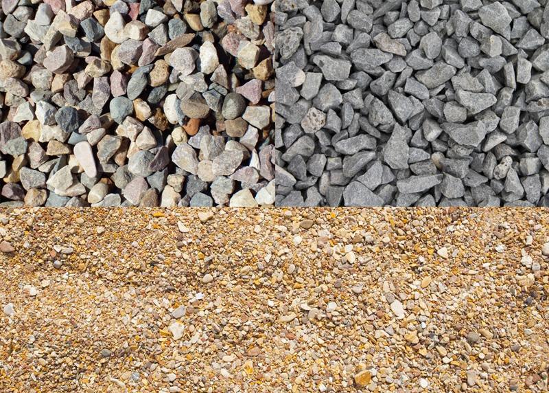 Песок, щебень и гравий