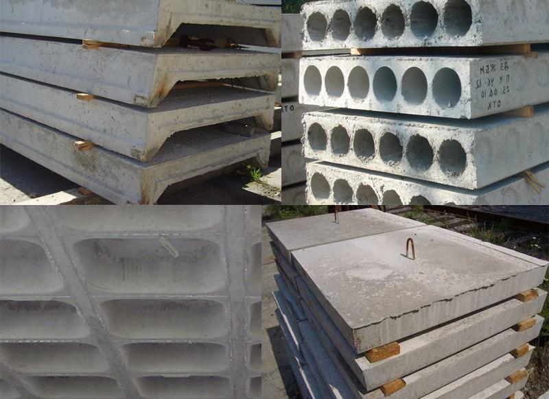 Основные виды плит перекрытий