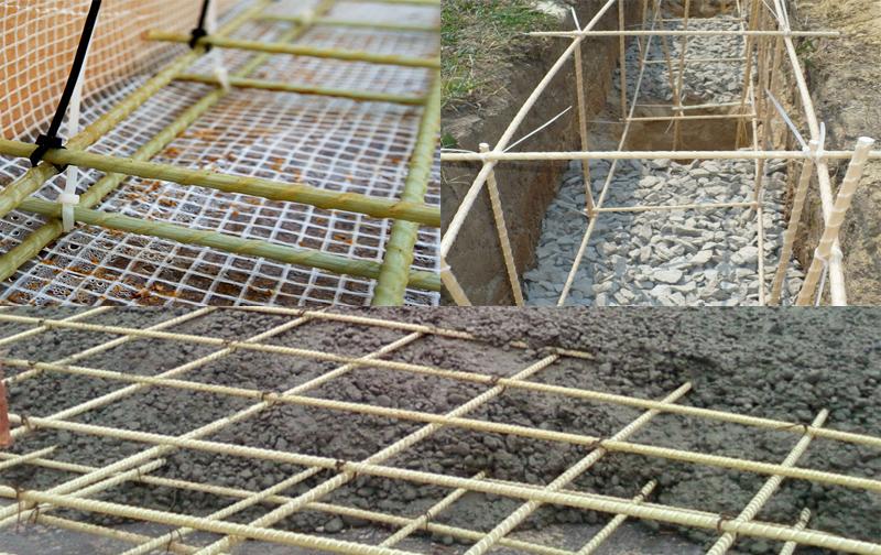 использование пластиковой арматуры в фундаменте